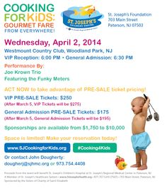 Save the Date: April 2, 2014 (BACK) #cooking4kids