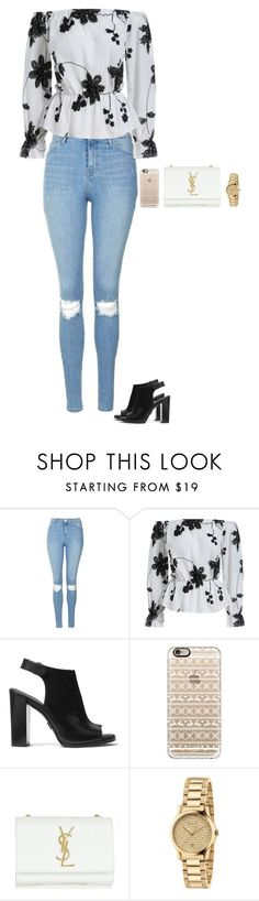 Untitled #229 by sing-into-life on Polyvore featuring Topshop, Michael Kors, Yves Saint Laurent, Gucci and Casetify