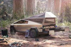 Electric Pickup Truck, Electric Cars, Electric Vehicle, Tesla Motors, Elon Musk, Truck Camper, Camper Trailers, Tiny Camper, Ev Truck
