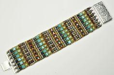 mixed size bead loom bracelet Lawrenceville PA beading class