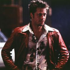 """Brad Pitt as Tyler Durden in the movie """"Fight Club"""" - Learn How to be a Real Man at www.MasculinityUniversity.net"""