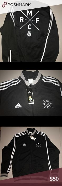 NEW!! Adidas Real Madrid Men's Training Jacket This is a men's size XL training jacket with a very cool design on the back. adidas Jackets & Coats
