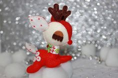Xmas Cuties - BAMBI Addiction - Red and Dotty Cream - REINDEER