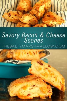 Mouth watering savory scones with bacon and cheese!