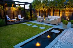 Browse our portfolio of gardens we have created for our clients Backyard Seating, Backyard Patio Designs, Small Backyard Landscaping, Backyard Ideas, Modern Landscaping, Patio Ideas, Contemporary Garden Design, Garden Modern, Modern Backyard Design