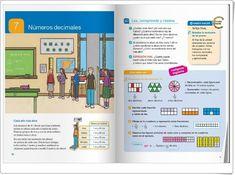"Unidad 7 de Matemáticas de 4º de Primaria: ""Números decimales"" Math Worksheets, Bullet Journal, Reading, Interactive Activities, Unity, Concept, United States, Reading Books, Libros"