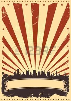 Illustration of a vintage poster background for celebration of fourth of july, american holidays or independence day. Stock Vector