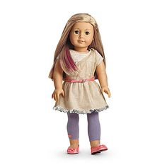 American Girl® Clothing: Isabelle's Metallic Dress. Can't decide if I like this.