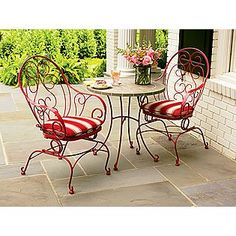 Amherst Wire Bistro Table  Country Living. These Chairs Are Only $80. Too  Cute