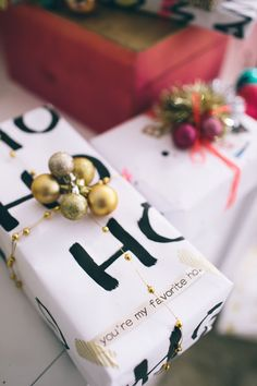 """You're my favorite ho"" yes ha! Need to do this. - wrapping paper party 