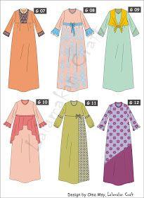 Creativity Tutorial: Pesan Pola Busana Islamic Fashion, Muslim Fashion, Hijab Fashion, Fashion Illustration Collage, Illustration Mode, Abaya Designs, Batik Long Dress, Hijab Stile, Muslim Dress