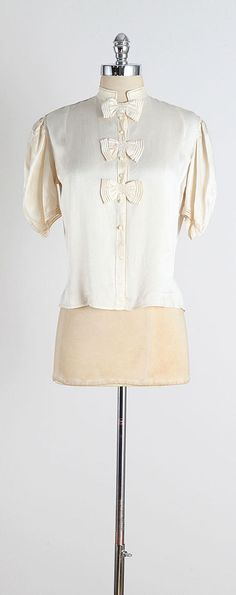 Third Time . vintage 1940s blouse . vintage by millstreetvintage