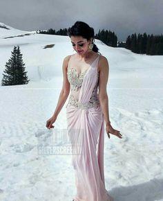 Kajal Aggarwal Saree Gown, Sari Dress, Saree Blouse, Lehenga Choli, Trendy Sarees, Stylish Sarees, Fancy Sarees, Modern Saree, Sari Blouse Designs