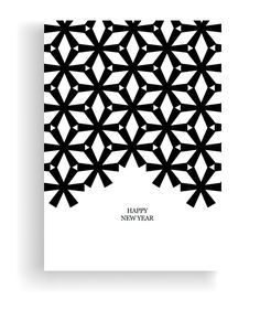 minimal B&W xmas cards on Behance