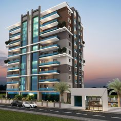 Modern apartment exterior design an online complete for Ultra modern office building design