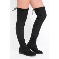 Chinese Laundry Rainey Over-The-Knee Flat Boots ($100) ❤ liked on Polyvore featuring shoes, boots, black, over-the-knee boots, thigh high boots, over the knee boots, over the knee thigh high boots, black low heel boots and thigh boots