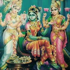 The sacred art as an offering to the Gods, and joy of men website page counter Mother Goddess, Goddess Art, Goddess Lakshmi, Green Goddess, Tanjore Painting, Mysore Painting, Lord Shiva Family, Lord Vishnu Wallpapers, Shiva Shakti