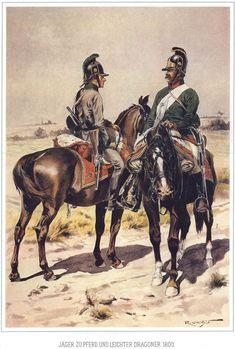 Cacciatore a cavallo e dragone leggero austriaci