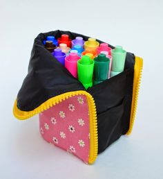 I made more marker pouches this past fortnight. First, a peek into our handmade past.This is...