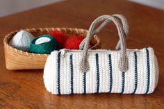 マリンカラーのボストン型ポーチの作り方|編み物|編み物・手芸・ソーイング|作品カテゴリ|アトリエ