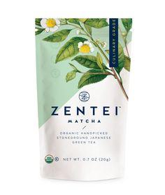 Miller Creative branding agency developed matcha naming, branding and packaging development for Zentei Matcha - a premium matcha tea brand based in the USA.