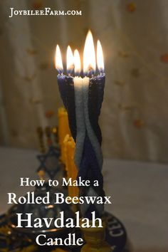 How to make a rolled beeswax havdalah candle: