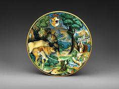 Dish | Italian, Urbino, ca. 1540-1544 | The Met Museum #NYC Gift of Julia A. #Berwind 1953  #art #artwork #antique #museum