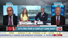A recent appearance on CNN talking about the MH17 crash.