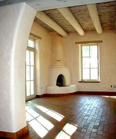 David Peterson Construction/ living room kiva fireplace