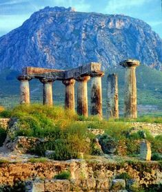 Ancient History Cities -                                                      Temple of Apollo in ancient Corinth. Corinth was an ancient city in Greece which was evangelized by the apostle Paul. He later sent them two letters which became part of the New Testament.