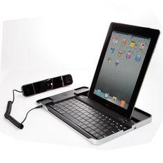 Bluetooth Keyboard Aluminum Case with Skype Telephone for iPad