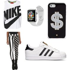 Just something by og-flygirl-z on Polyvore featuring polyvore, fashion, style, NIKE, Tripp, adidas, Kate Spade and Samsung