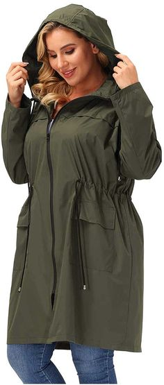 This women's plus size packable rain jacket by Hanna Nikole will shield you from whatever Mother Nature has in store without being overly bulky or heavy. You'll be cozy, but not too hot in the light, breathable polyester shell that hits all the marks for versatility! Here are the best packable rain jacket to carry with you on your next trip! #TravelFashionGirl #TravelFashion #waterproofjacket #packableraincoat #raincoat #falljacket Packable Rain Jacket, Fall Jackets, Packing Light, Travel Style, Carry On, Raincoat, Plus Size, Stylish, Mother Nature