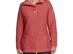 Bella Long Length 1/4 Button Classic Macaroni Sweatshirt Foxberry Was £75.00 | Sale Price £32.50 http://tidd.ly/689fc6b8