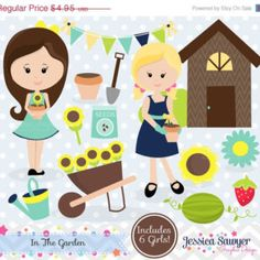 off instant download garden clipart clip art for personal and commerc bed clip art cleaning bedroom wiibrowserbiz