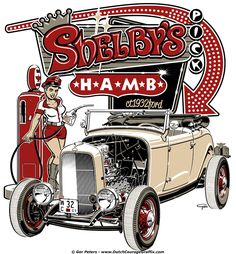 """Shelby's H.A.M.B. Pick 2015"" 1932 Ford roadster T-shirt #ShelbysWay #1932 #Ford #roadster #HAMB #Tshirt #art"