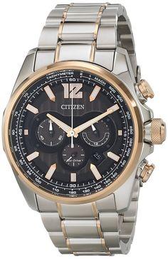 Citizen men watches : Citizen Men's CA4176-55E Shadowhawk Analog Display Japanese Quartz Two Tone Watch