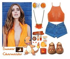 432->Summer Charmander by dimibra on Polyvore featuring Spiritual Hippie, Levi's, Bling Jewelry, Radà, Kate Spade, Tod's, Too Faced Cosmetics, Serge Lutens, River Island and Yves Saint Laurent