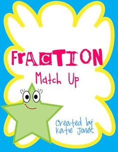 The matching game comes with 24 fraction cards.  Students should match the fraction to the picture.  This is a great review game for students to pl...