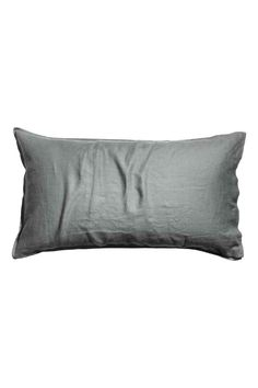 Funda de almohada en lino: ALTA CALIDAD. Funda de almohada en lino lavado con ribetes de doble costura. Número de hilos 104. Secar en secadora para preservar la suavidad del lino.