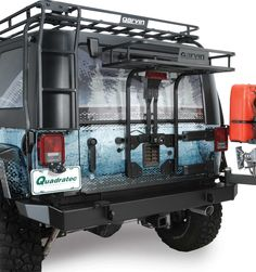 Garvin Industries Trail Rack for 07-16 Jeep® Wrangler & Wrangler Unlimited JK with Garvin G2 Swing Away | Quadratec