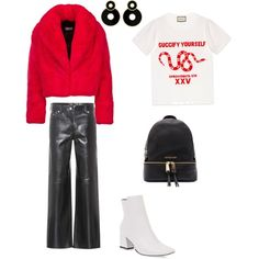 Без названия #1 by asel-junussova on Polyvore featuring polyvore, fashion, style, Gucci, Calvin Klein 205W39NYC, Michael Kors and clothing
