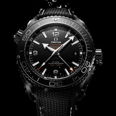 Omega Seamaster Planet Ocean GMT Deep Black Watches In Ceramic Watch Releases Omega Planet Ocean, Omega Seamaster Planet Ocean, Omega Watches Seamaster, Omega Speedmaster, Omega Seamaster Black, Seamaster Watch, All Black Watches, Luxury Watches For Men, Cool Watches
