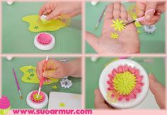 step by step flower