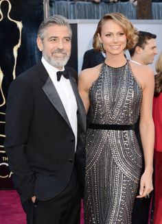 Oscar 2013: George Clooney and his partner Stacy Keibler