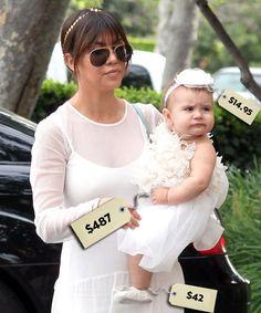 Penelope Disick with her mom Kourtney Kardashian