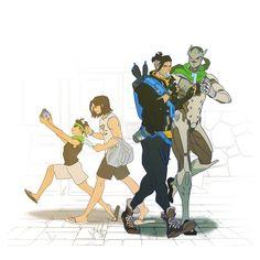 Genji is TALLER than Hanzo-- hes 2 inches shorter in cannon Overwatch Hanzo, Overwatch Comic, Overwatch Fan Art, Genji Shimada, Hanzo Shimada, Genji And Hanzo, Genji Oni, Hanzo Dragon, Shimada Brothers