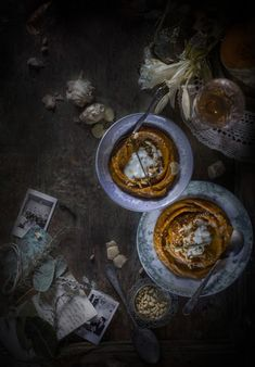 Roasted Pumpkin Soup, 'Romagnola' style with Ginger & Squacquerone Cheese | Hortus Natural Cooking