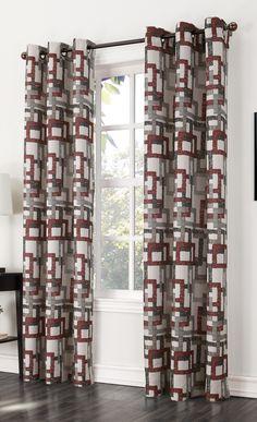 Kaveri Gommet Curtains - Paprika