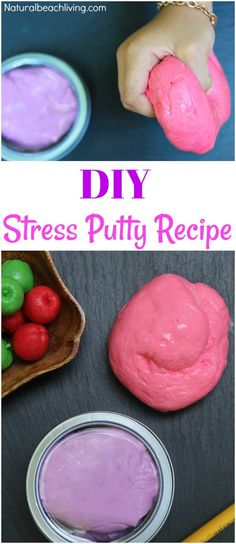 The Best Therapy Putty Recipe You'll Ever Make, This Stress Putty is the perfect DIY Therapy Putty or Silly Putty Recipe for Kids and Adults, Make this Homemade Stress Putty in under 5 minutes and it will last for weeks, Therapy Dough, Sensory Play Art Therapy Activities, Activities For Kids, Crafts For Kids, Therapy Ideas, Anxiety Activities, Motor Activities, Sensory Activities, Easy Crafts, Silly Putty Recipe